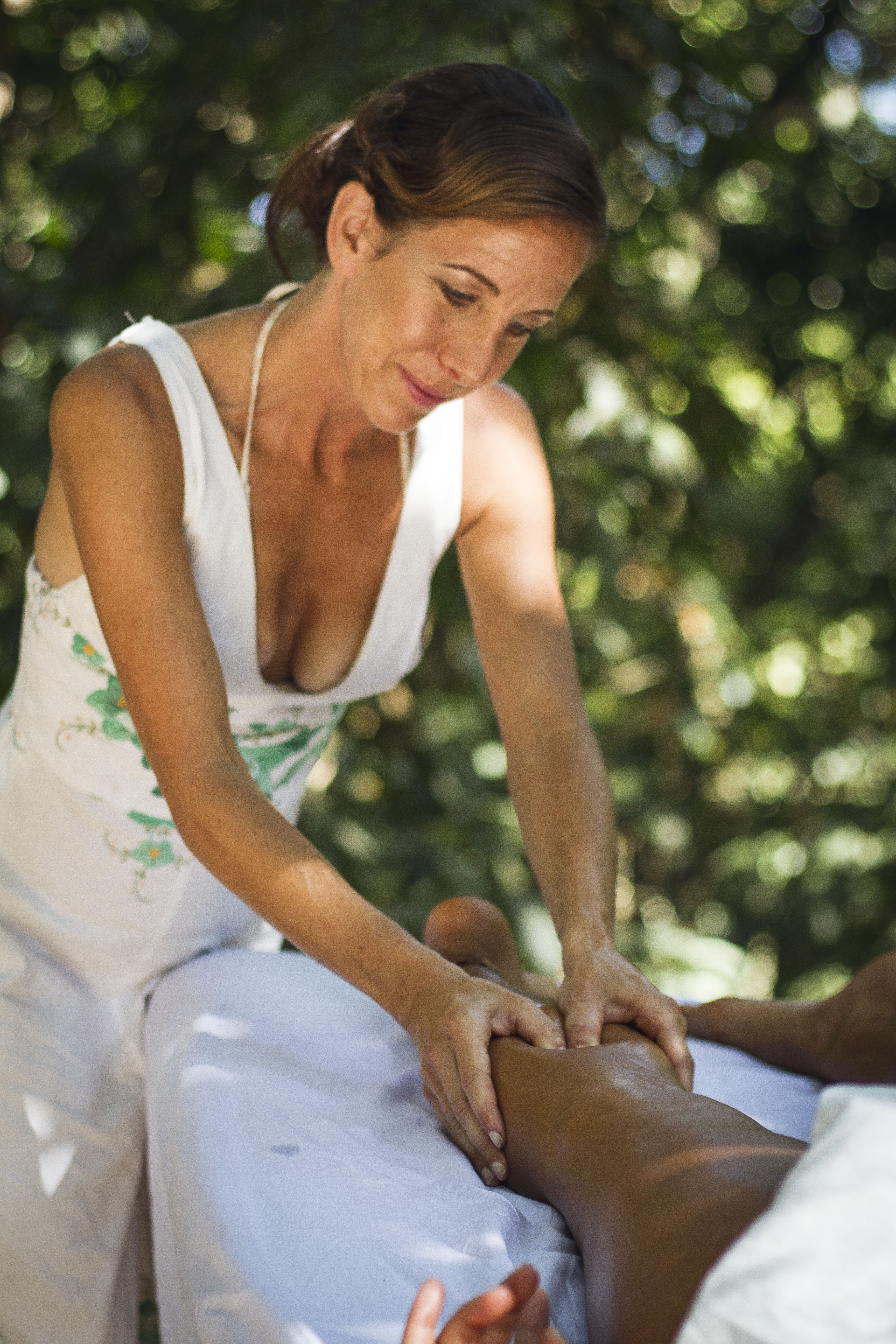 Massage in the forest